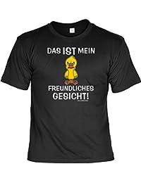 Fun T-Shirt: Das ist mein freundliches Gesicht - lustiges Geschenk mit Spaß und Humor - S bis 5XL