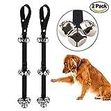 ZFITEI 2Stück PET DOG TRAINING Klingel Seil Training und Erziehung Hunde und Katzen Alarm einstellbar Tür Bell