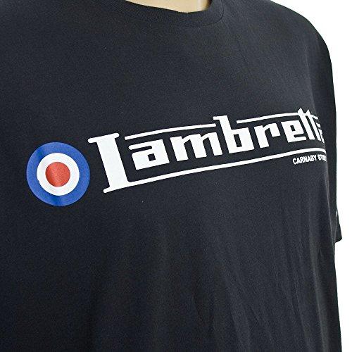 Lambretta Kingsize Flag Logo T-Shirt Navy Navy