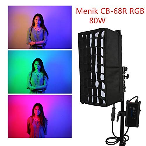 Menik CB-68R RGB Full-Color Film Photographic Lamp HSI Color Mode 80W 2750k- 6500k+RGB Led Waterproof Roll-Flex Fotostudio-Licht Cb Bracket Kit