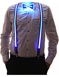 cb761c2cd585 2 Pcs/Set, Good Quality Light Up Men's LED Suspenders And Bow Tie,