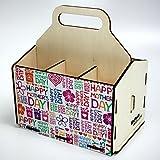 Bierträger aus Holz - SixPack - Muttertag - Geschenke für Frauen (Happy Mother´s Day)
