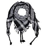 Superfreak® Palituch Grundfarbe schwarz°PLO Schal°100x100 cm°Pali Palästinenser Arafat Tuch°100% Baumwolle, Farbe: schwarz/weiss