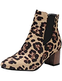 Heheja Mujer Elegante Zapatos Moda Cálido Botines Ocio Invierno Botas