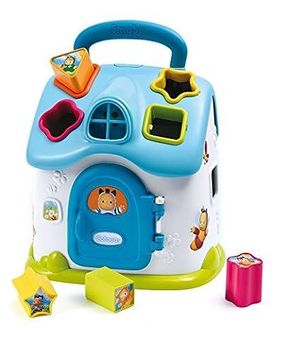Smoby Toys, 110403, Cotoons Maison des Formes Electronique, Piles Incluses, Bleu