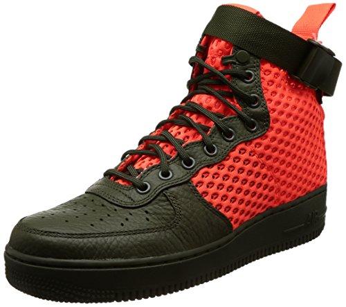 Nike Sf Af1 Mid, Baskets Multicolores Pour Homme (cargo Khakitotal Crimsoncargo Kaki)