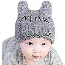 Invierno del bebé Niños Niñas Tejido Gorro de Punto Caliente lana Cofia Capucha Bufanda Caps Sombreros