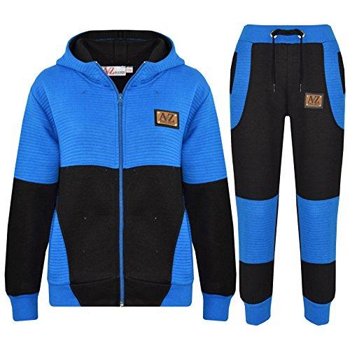A2Z 4 Kids® Kinder Trainingsanzug Jungen Mädchen Designer A2Z PROJECT Abzeichen - T.S A2Z Project Black Blue 11-12 Designer-outfit