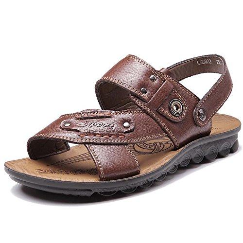 SU@DA Les chaussons de garçons 2016 été nouveau/hommes/casual sandales/Chaussures/cuir/plage Brown