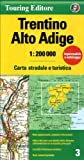 Trentino Alto Adige: TCI.R03 (Regional Road Map)