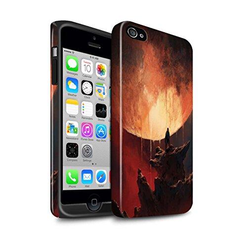 Offiziell Chris Cold Hülle / Glanz Harten Stoßfest Case für Apple iPhone 4/4S / Pack 12pcs Muster / Fremden Welt Kosmos Kollektion Schmelzen Sonne