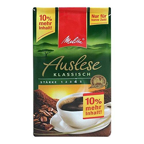 Melitta Kaffee Auslese Klassisch, stärke 4 (500g+10% mehr inhalt, Packung)