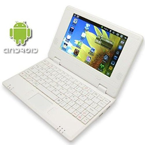 White 7″ VIA8850 mini Android 4.2 Laptop Netbook- HDMI- Webcam- 4gb