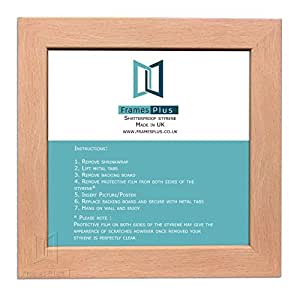 "BEECH WOODEN EFFECT PICTURE PHOTO SQUARE FRAMES SIZE: 11""x11"", PORTRAIT OR LANDSCAPE READYMADE"