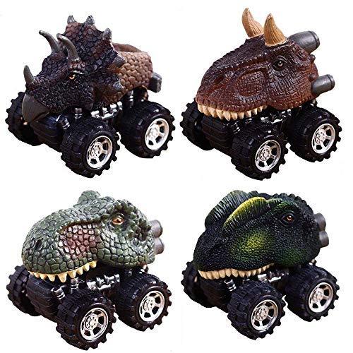 Dinosaurier Spielzeug Autos für 2-6 Jahre alte Jungen, GZMY Ziehen Sie Dinosaurier Autos Zurück für 2-6 Jahre alte Jungen Weihnachtsgeschenke