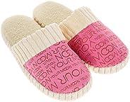 AHOMI Unisex Warm Soft Anti-Slip Letter Cotton Slipper Shoes for Women Dressing up