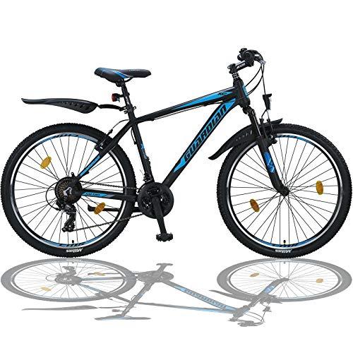 Talson 26 Zoll Mountainbike Aluminiumrahmen Fahrrad Shimano 21G Gabelfederung nach STVO SBLUE 765