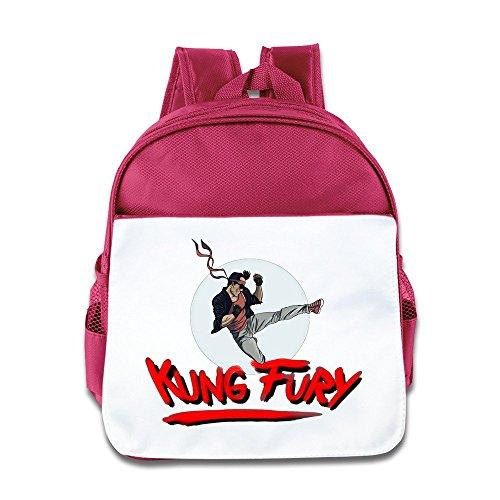 Kung Fury Kinder Rucksack rosa rose (Figur Action Kostüme Film)
