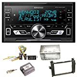Kenwood DPX-M3100BT Bluetooth USB MP3 Autoradio AOA2.0 iPhone iPod Doppel Din Einbauset für Mercedes Vito Viano W639