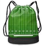 PmseK Turnbeutel Sportbeutel Kordelzug Rucksack, American Football Camp Drawstring Backpack Bags...
