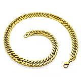 SoulCats® Königskette Armband Set o. einzeln aus Edelstahl Breite: 10 mm; Farbe: Gold; Auswahl: Kette 60 cm