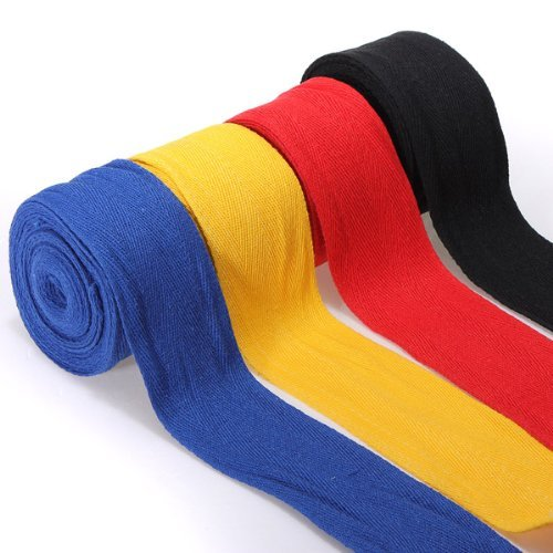 TOOGOO Streifen Bandage fuer MMA Boxen Handschuhe Boxen Boxer Stanzen Tasche Griffe 2,5M rot Abbildung 3