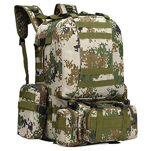 Yy.f Militärtarnung Wandern Taktische Tasche Bergsteigen Rucksack Großes Portfolio Camping Reisetaschen Oxford-Tuch Im Freien Rucksack. Multicolor H