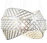 Luxus Design Kronleuchter Kristall Hängeleuchte Deckenleuchte Pendellampe mit K9 Glaskristallen Pendelleuchte Lüster Ø50cm