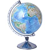 Educational Physical World Globe 8 inch, Steel Arc and Base by Excel Globe
