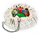 Flamingo Toy Storage Mat, soluzione sacca, braccialetti, scatola per giocattoli, giochi, Great for Lego.