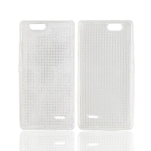 Easbuy TPU Transparent Silikon Tasche Case Etui Cover Hülle für Oukitel C4