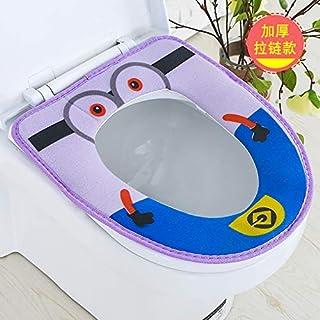 edafg Verdicken Sie WC-Sitz Wasserdichte niedliche WC-Sitz Reißverschluss Typ Universal WC-Sitz, AC