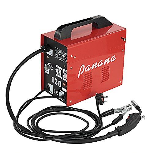 AnaellePandamoto Poste à Souder Semi-Automatique Sans Gaz Turbo MIG130 IP21, 60-120A, 50Hz, Taille: 34*18.3*34cm, Poids: 14kg, Rouge + Noir