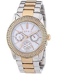 Esprit Damen-Armbanduhr Peony Analog Quarz Edelstahl ES103822016