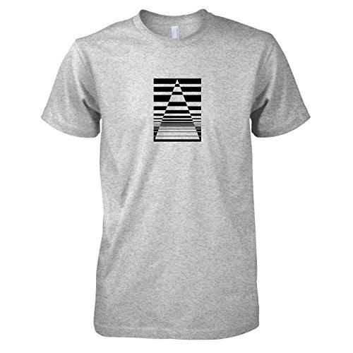 TEXLAB - The Triangle - Herren T-Shirt Graumeliert