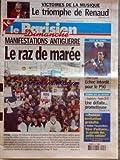 PARISIEN DIMANCHE (LE) du 16/02/2003 - victoire de la musique - le triomphe de renaud - manifestations antiguerre - le raz de maree tournoi des six nations - angleterre et france coupe de france de foot - psg et laval...