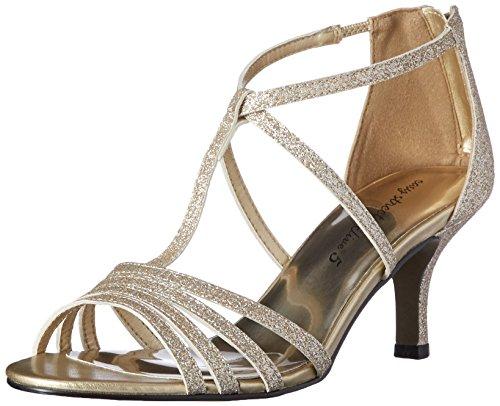 Easy Street Gaze Femmes Large Synthétique Sandales Gold Glitter