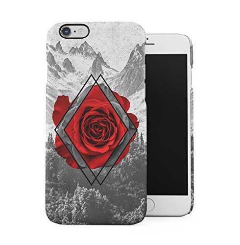 Vintage Floral Flowers Polka Dots Pattern Indie Tumblr Boho Shabby Chic Apple iPhone 6 PLUS , iPhone 6S PLUS Snap-On Hard Plastic Protective Shell Case Cover Custodia Red Rose Blossom