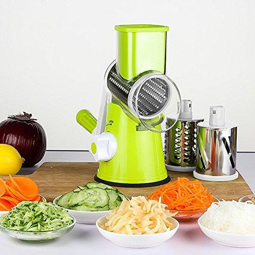 LEKOCH Manuelle Multi Gemüseschneider Gemüsehobel Trommelreibe Käsemühle Mit 3...