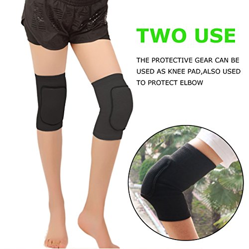 Kneepads-Knee-Support-Knee-Sleeves-Brace-Protector-Pad-Paciffico-Kids-Breathable-Thicked-Crashproof-Antislip-Dance-Cotton-Knee-Pads-Brace-Wrap-tape-for-Kids-Sport-dancing-Sblack