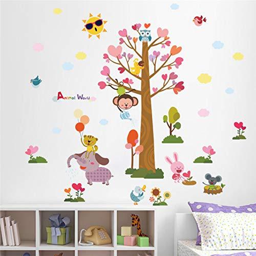 Tierwelt Affe Eule Kinderzimmer Wandtattoo Kindergarten Schlafzimmer Dekor Poster Wandbild