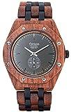 Tense//L' orologio in legno - Mens Washington North Rose di legno/legno di sandalo marrone/nero - Orologio da uomo - Orologio in legno j5845rd di Grey