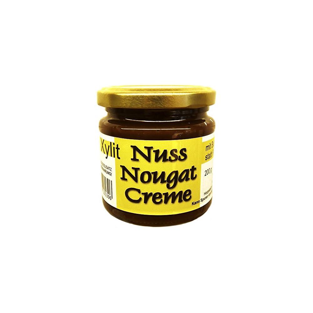 Butter Hasellnuss Nuss Nougat Creme Mit Xylit Gest 200 G Ohne Palmfett Ohne Zuckerzusatz 437 Haselnsse