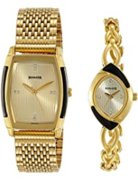 Sonata Analog Gold Dial Unisex Watch-NK70808069YM01