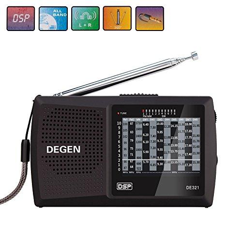 Kurzwellen-radio Zu Hören (AM / FM Pocket Kurzwellen Radio Covvy Mini Size 10 Band Radio mit DSP für Walk)