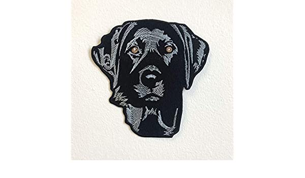 Blue Labrador dog animal badge Iron Sew on Embroidered PatchВ#644