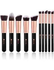 BESTOPE Make Up Pinsel Set 10 Stücke Kosmetikpinsel mit Synthetisches Haar Pinselset kosmetik für Berufsverfassungs oder Ausgangsgebrauch Makeup Pinsel Brush Set (Rosa Gold)