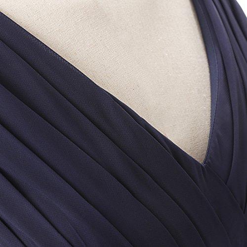 Find Dress Sexy Col en V Robe de Soirée/Cocktail/Cérémonie Robe Demoiselle d'Honneur Lacet en Mousseline avec Fleur Ceinture Lavande