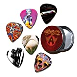 Aerosmith Set of 6 Loose Guitar Médiators in Tin ( Collection D )