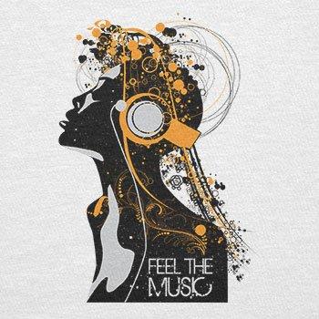 Texlab–Feel the music–sacchetto di stoffa Bianco